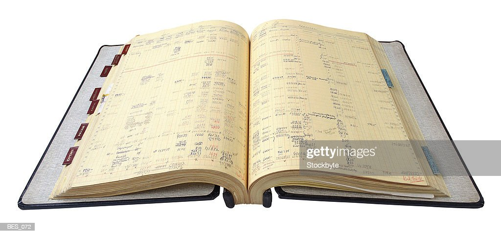 open accounting ledger ストックフォト getty images