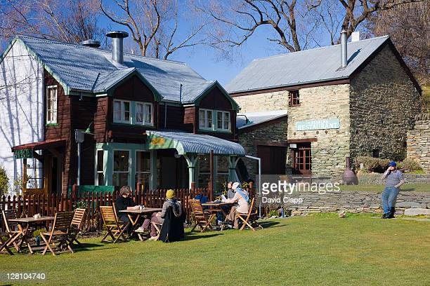 Open air cafe in Arrowtown, an old gold mining community near Queenstown, South Island, New Zealand