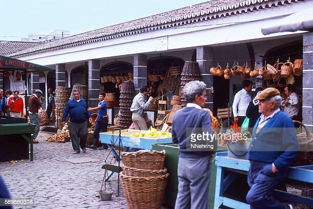 open air market in Ponta Delgada, Azores 1981