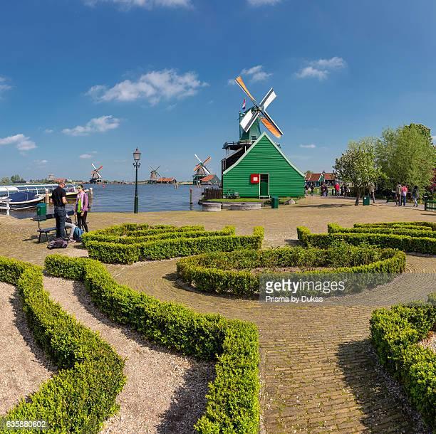Open air museum De Zaanse Schans in Zaandam NL