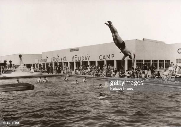 Open air swimming pool at Butlins Skegness 1936