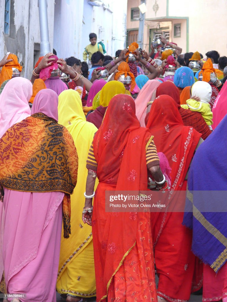 Open air wedding celebration in the streets of Udaipur, Rajasthan, India : Foto de stock