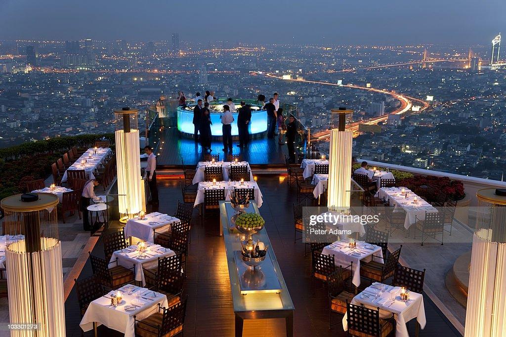 Open Airbar Sirocco Sky Bar Bangkok Thailand Stock Photo
