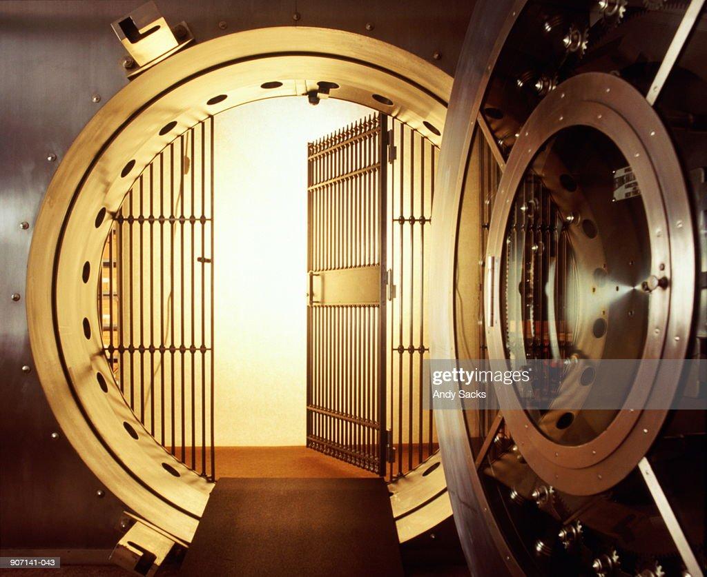 Open bank vault : Stock Photo