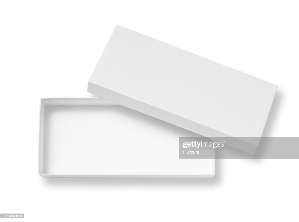 Open blank box : Stock Photo