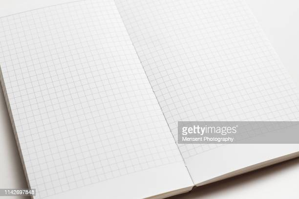 Open blank magazine book for white background