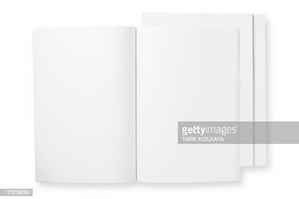 open blank magazine - magazine page stock photos and pictures