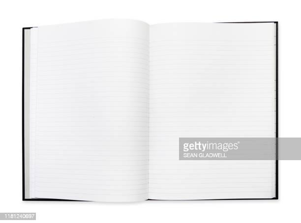 open blank note book - schulheft stock-fotos und bilder