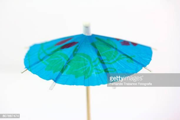 Open blue umbrella