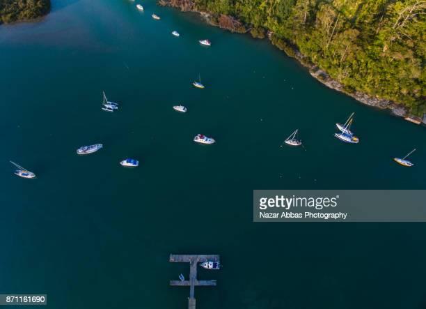 open boat ramp at stillwater auckland, new zealand. - ファンガパラオア半島 ストックフォトと画像