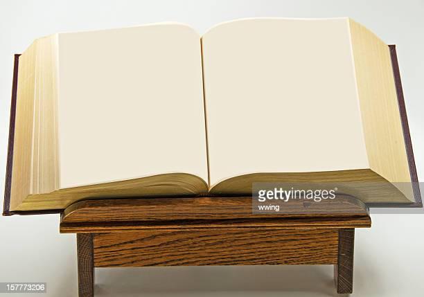 Abra o livro e cópia espaço