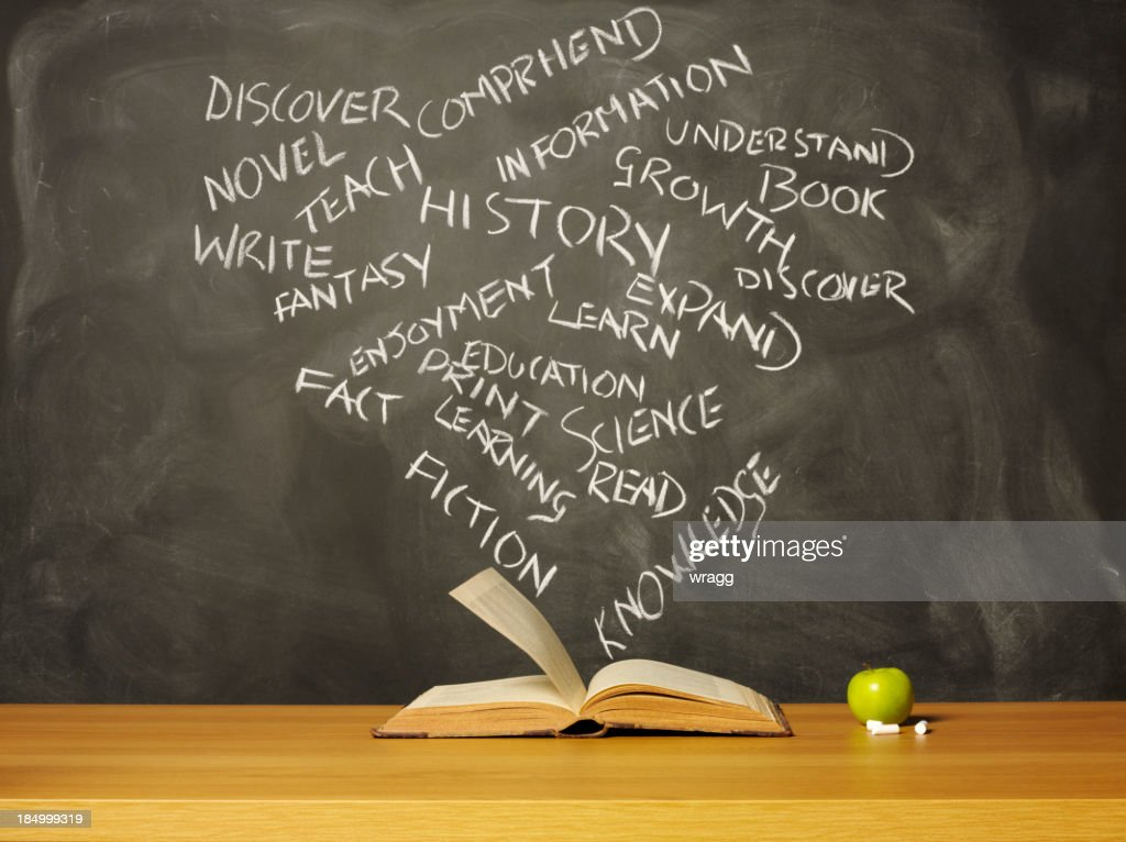 Open Book and Words : Stock Photo
