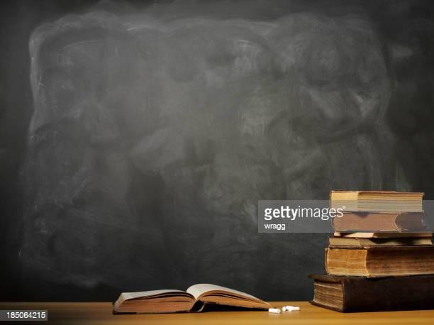 Open Book on a School Desk
