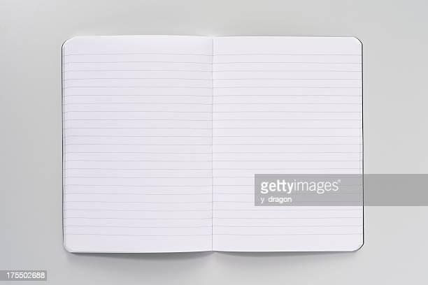 open buch - liniertes papier stock-fotos und bilder