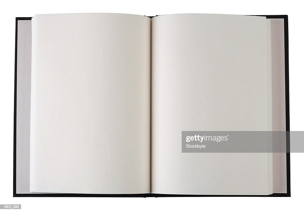 Open book with blank pages : Foto de stock