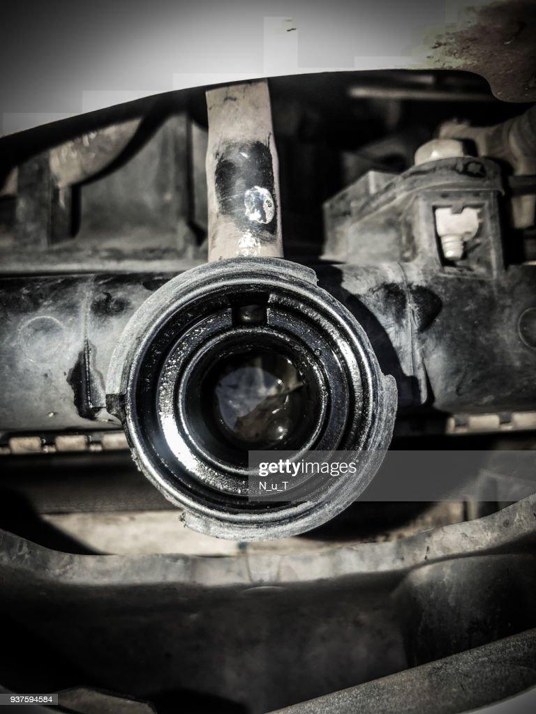 Open cap check the radiator car : Stock Photo