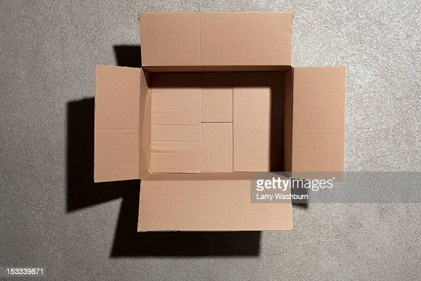 open cardboard box - cardboard box stock pictures, royalty-free photos & images