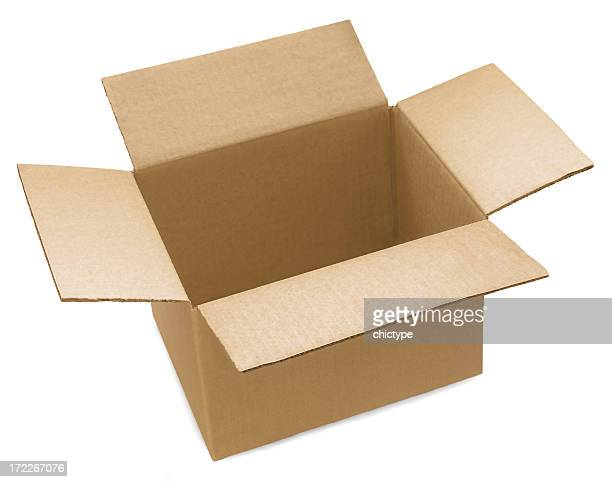 open cardboard box - carton stock pictures, royalty-free photos & images