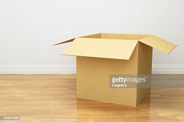 open cardboard box - carton stock photos and pictures
