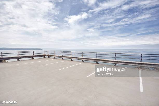 Open carpark overlooking the sea