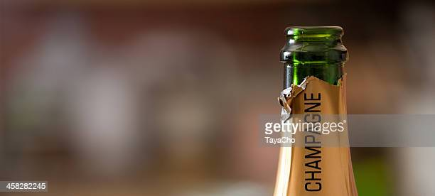 open champagne bottle - campania stock pictures, royalty-free photos & images