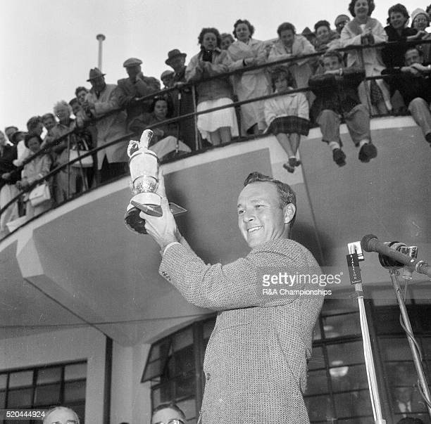 Open Championship 1961 Royal Birkdale Golf Club Southport England held 12th 15th July 1961 Pictured Arnold Palmer with claret jug 15th July 1961