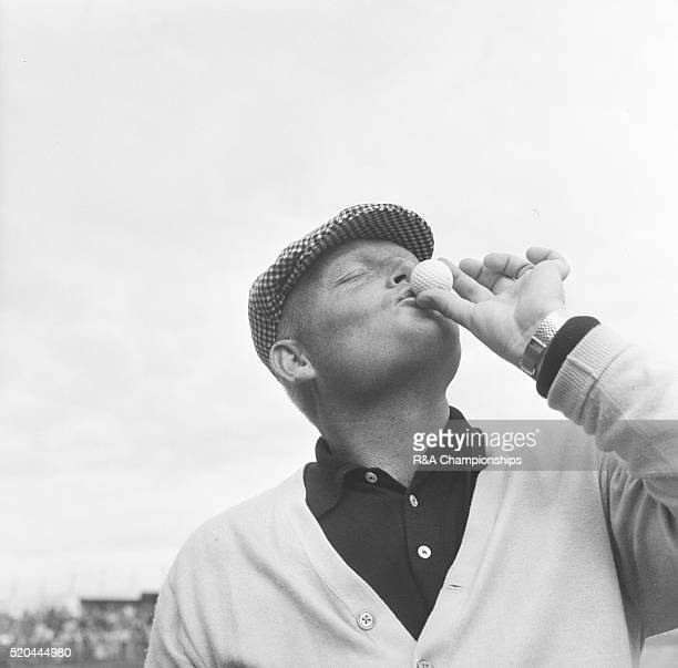 Open Championship 1963 Royal Lytham St Annes Golf Club in Lytham St Annes England held 10th 13th July 1963 Pictured Phil Rodgers kisses the ball...