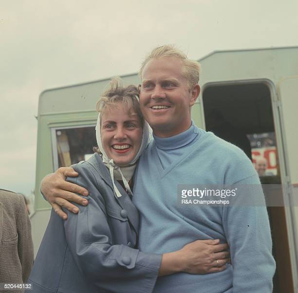 Open Championship 1966 at Muirfield Golf Links in Gullane East Lothian Scotland held 6th 9th July 1966 Pictured Jack Nicklaus with his wife Barbara...