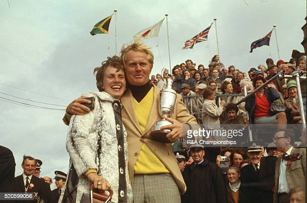Open Championship 1970 at Old Course at St Andrews in St Andrews Scotland held 8th 12th July 1970 Pictured Jack Nicklaus and his wife Barbara