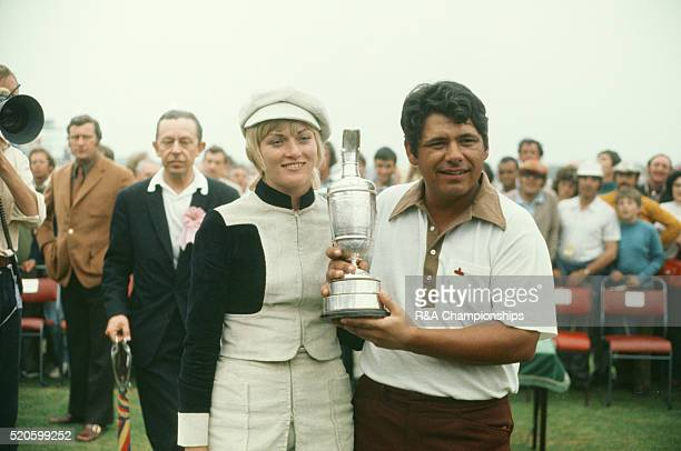 Open Championship 1971 at Old Course at Royal Birkdale Golf Club in Southport England held 7th 10th July 1971 Pictured Lee Trevino and his wife...
