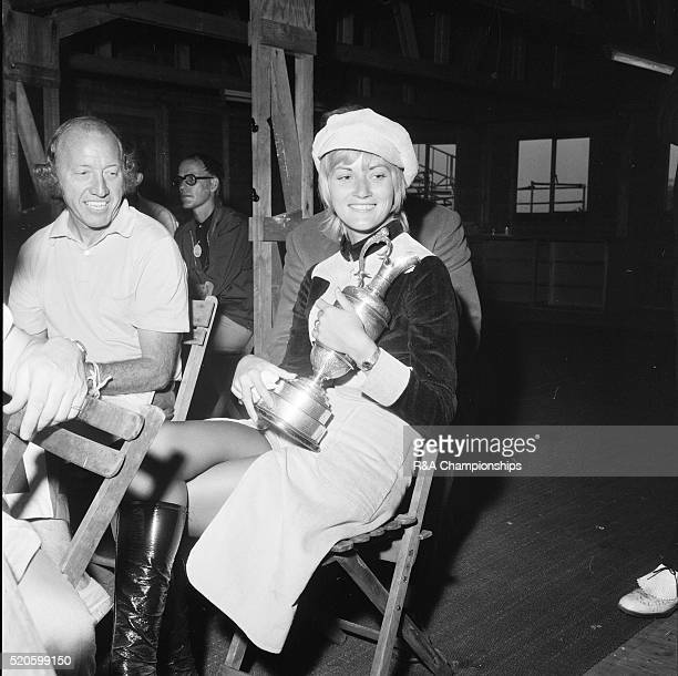 Open Championship 1971 Royal Birkdale Golf Club in Southport England held 7th 10th July 1971 Pictured Mrs Lee Trevino Claudia Fenley pictured holding...