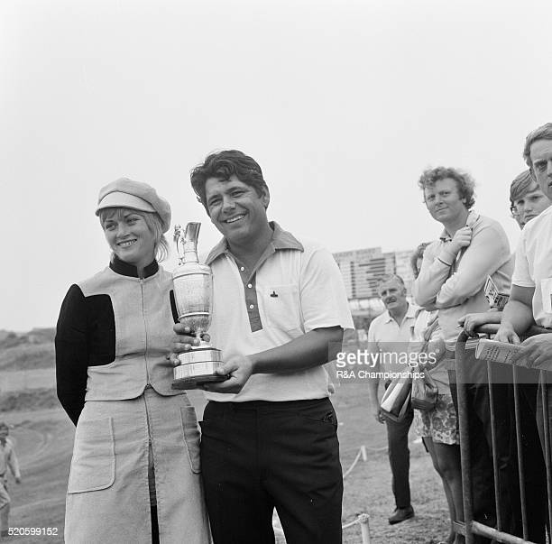 Open Championship 1971 Royal Birkdale Golf Club in Southport England held 7th 10th July 1971 Pictured 1971 Open Champion Lee Trevino with wife...