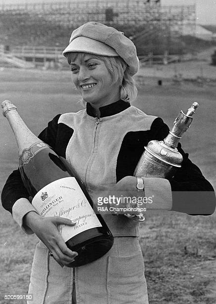 Open Championship 1971 Royal Birkdale Golf Club in Southport England held 7th 10th July 1971 Pictured champagne and trophy for Mrs Trevino Claudia...