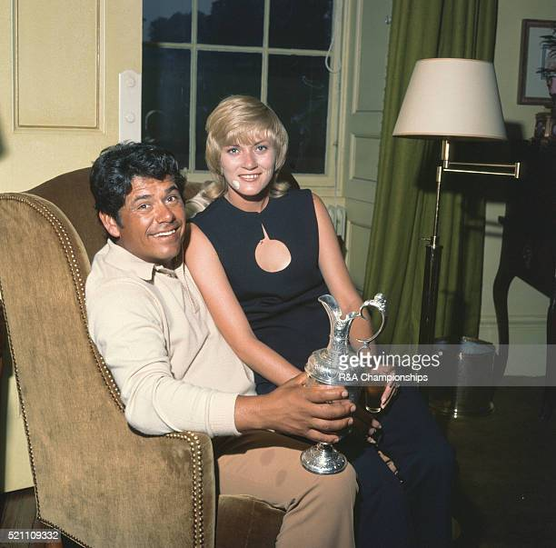 Open Championship 1972 at Muirfield Golf Links in Gullane East Lothian Scotland held 12th 15th July 1972 Pictured Winner Lee Trevino and his wife...