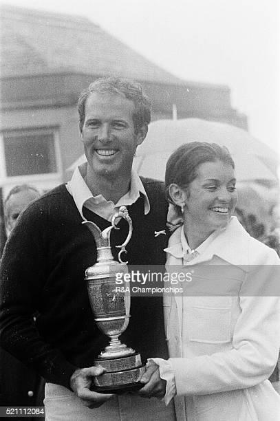 Open Championship 1973 Troon Golf Club in Troon Scotland held 11th 14th July 1973 Pictured Tom Weiskopf 1973 Open Champion with wife Jeanne Weiskopf...