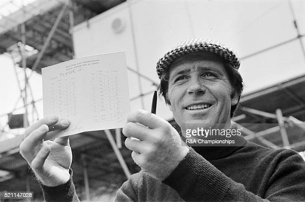 Open Championship 1974 Royal Lytham St Annes Golf Club in Lancashire England held 10th 13th July 1974 Pictured Gary Player and card 2nd round 68...