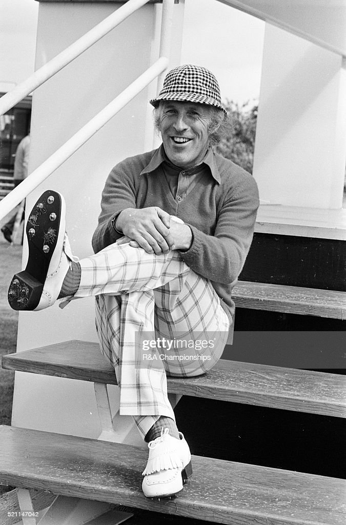 Open Championship 1974. Royal Lytham & St Annes Golf Club in Lancashire, England, held 10th - 13th July 1974. Pictured, Bruce Forsyth, 11th July 1974.