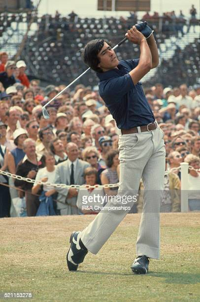 Open Championship 1976 at Royal Birkdale Golf Club in Southport England held 7th 10th July 1976 Pictured 1st tee final round Seve Ballesteros 10th...