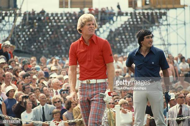 Open Championship 1976 at Royal Birkdale Golf Club in Southport England held 7th 10th July 1976 Pictured Johnny Miller and Seve Ballesteros