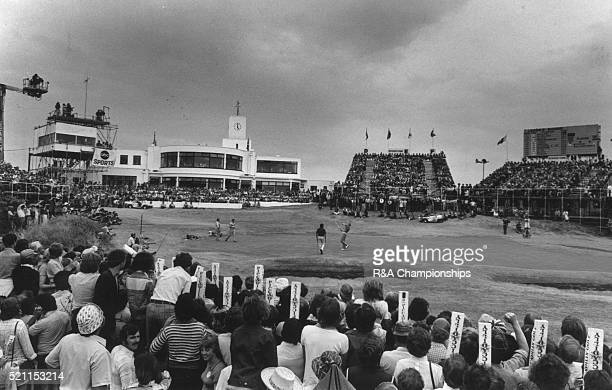 Open Championship 1976 Royal Birkdale Golf Club in Southport England held 7th 10th July 1976 Pictured Johnny Miller throws his ball into the crowd...