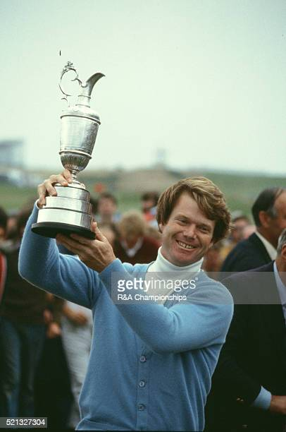 Open Championship 1980 at Muirfield Golf Links in Gullane Scotland held 17th Ð20th July 1980 Pictured Tom Watson winner with trophy 20th July 1980