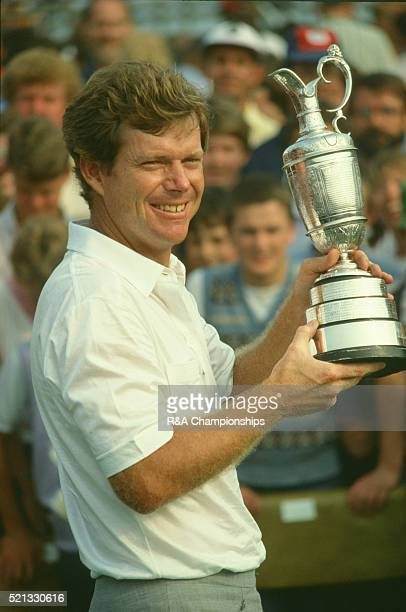 Open Championship 1983 at Royal Birkdale Golf Club in Southport England held 14th 17th July 1983 Pictured Tom Watson with trophy 17th July 1983