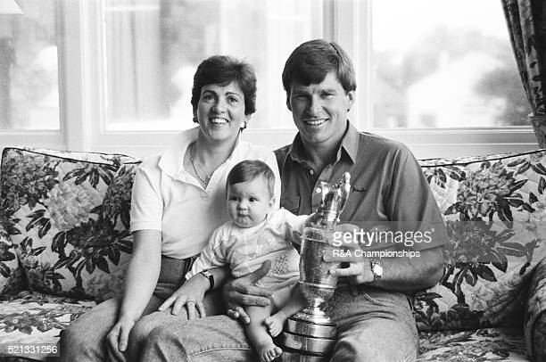Open Championship 1987 Muirfield Golf Links Gullane Scotland held 16th 19th July 1987 Pictured Nick Faldo Open Champion pictured with wife Jill and...