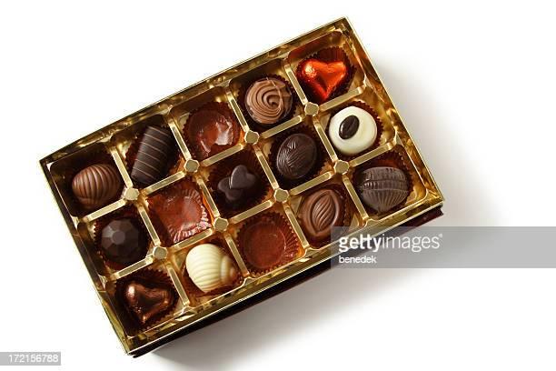 Open Chocolate Box on white
