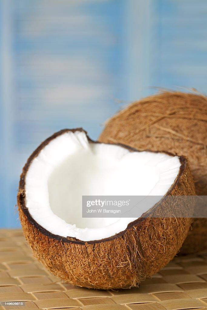 Open coconut : Stock Photo