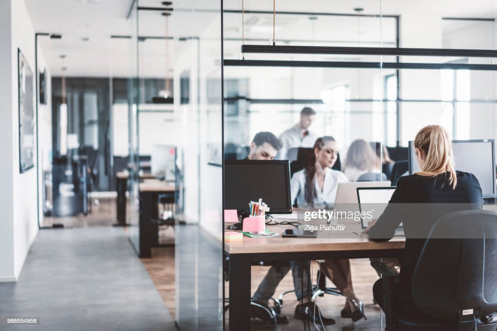 open concept office space. Open Concept Office Space : Stock Photo