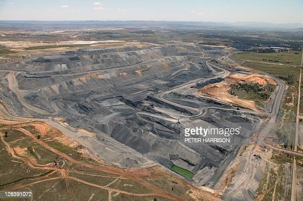 Open cut coal mine in Hunter Valley, NSW, Australia