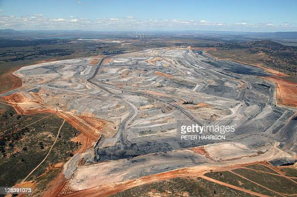 Open Cut coal mine in Hunter Valley, NSW, Australia