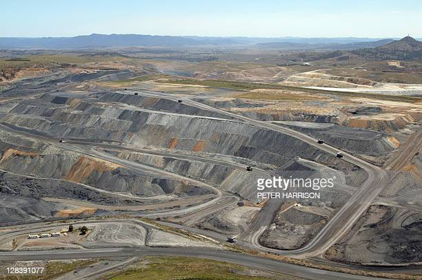 Open cut coal mining in Hunter Valley, NSW, Australia