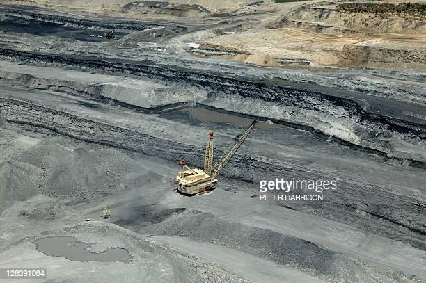 Open Cut coal mining in Hunter Valley, NSW, Australia